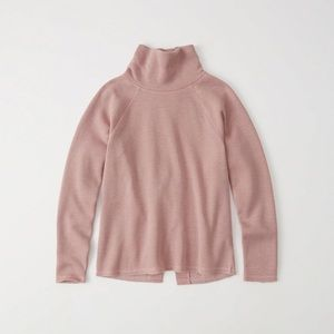A&F Rose Button Back Cowl Sweater/Sweatshirt